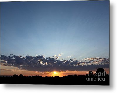 July Sunset Metal Print by Erica Hanel
