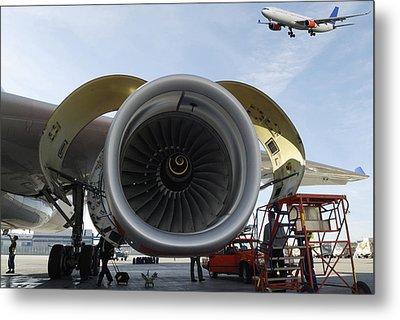 Jumbo Jet Engine And Aerospace Metal Print by Christian Lagereek