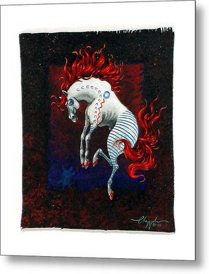 Jump Metal Print by David  Chapple