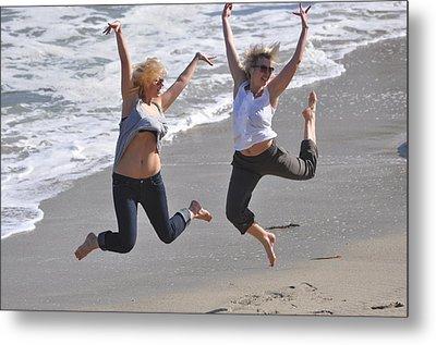 Jumpers At La Jolla Cove Metal Print by Pamela Schreckengost