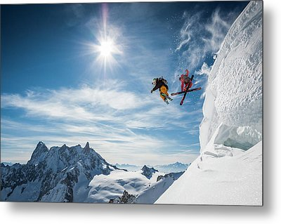 Jumping Legends Metal Print by Tristan Shu