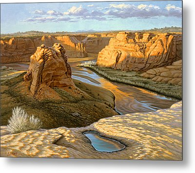 Junction Overlook - Canyon Dechelly Metal Print by Paul Krapf