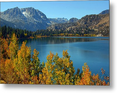 Metal Print featuring the photograph June Lake Blues And Golds by Lynn Bauer