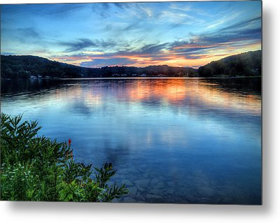 Metal Print featuring the photograph June Sunset by Jaki Miller