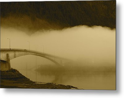 Juneau - Douglas Bridge Metal Print by Cathy Mahnke