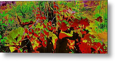 Jungle Abstract Metal Print by Mike Breau