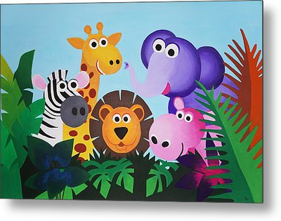 Jungle Metal Print by Bav Patel