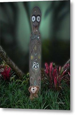 Jungle Bear 2 Metal Print