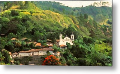 Jungle Church Honduras Metal Print by Spyder Webb