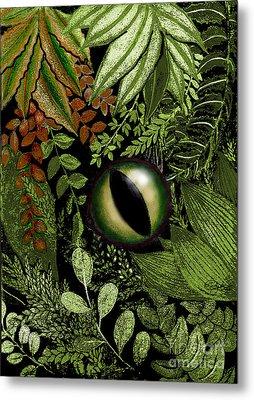 Jungle Eye Metal Print