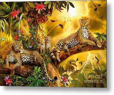 Jungle Jaguars Metal Print by Jan Patrik Krasny