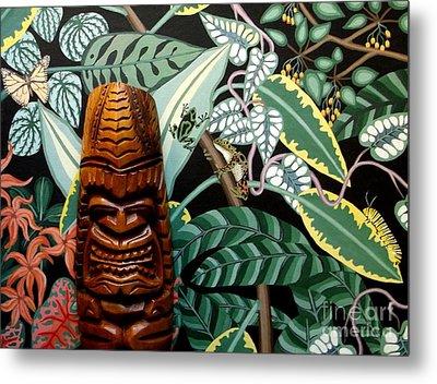 Jungle O Tiki Metal Print by Anthony Morris