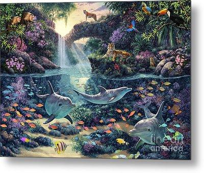 Jungle Paradise Metal Print by Steve Read