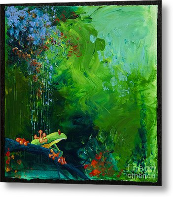 Jungle Rains I Metal Print by Tracy L Teeter