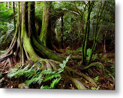 Jungle Trunks2 Metal Print by Les Cunliffe