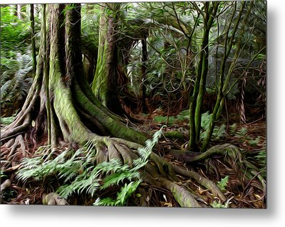 Jungle Trunks3 Metal Print by Les Cunliffe