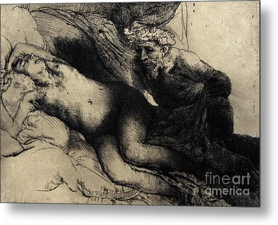 Jupiter And Antiope Metal Print by Rembrandt