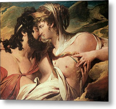 Jupiter And Juno On Mount Ida Metal Print