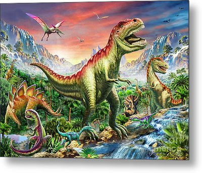 Jurassic Forest Metal Print by Adrian Chesterman