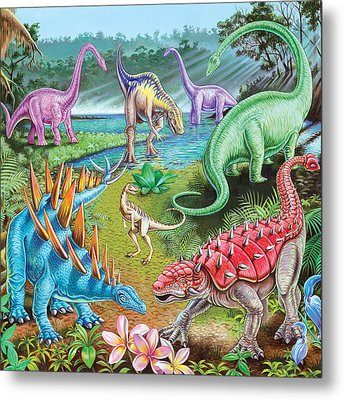 Jurassic Swamp Variant 1 Metal Print by Mark Gregory