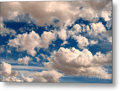 Metal Print featuring the photograph Just A Face In The Clouds by Janice Westerberg