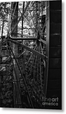 Just A Few Spokes Metal Print by Wayne Stacy