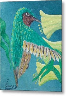 Just A Hummingbird Metal Print