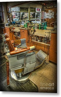 Metal Print featuring the photograph Just A Little Off The Top - Barber Shop by Lee Dos Santos