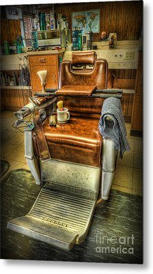 Metal Print featuring the photograph Just A Little Off The Top II - Barber Shop by Lee Dos Santos