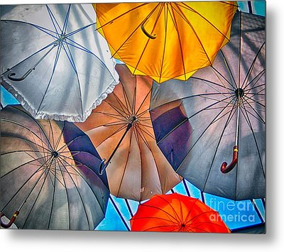Just Ambrellas Metal Print by Nicola Fiscarelli