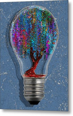 Just An Idea Metal Print
