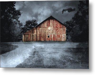 Night Time Barn Metal Print