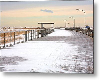 Just Another Boardwalk Metal Print