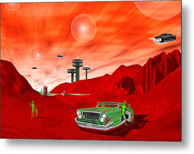 Just Another Day On The Red Planet 2 Metal Print by Mike McGlothlen