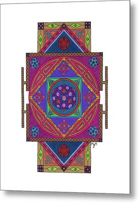 Metal Print featuring the drawing Just Another Roll Of The Dice by Mary J Winters-Meyer