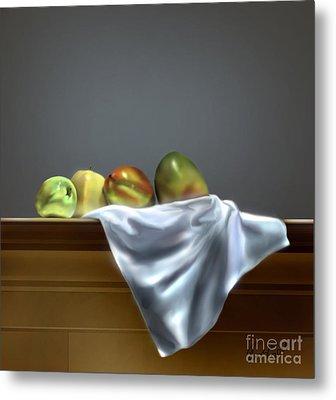 Just Apples And Mangos  Metal Print
