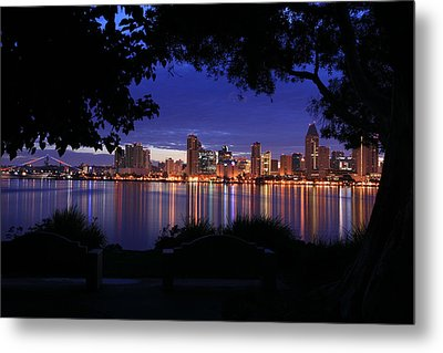 Just Before Sunrise San Diego Metal Print