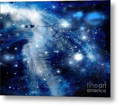 Metal Print featuring the digital art Just Beyond The Moon by Janice Westerberg