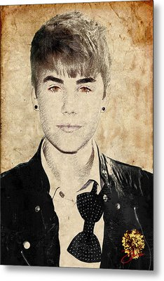 Just Bieber Metal Print by Dancin Artworks