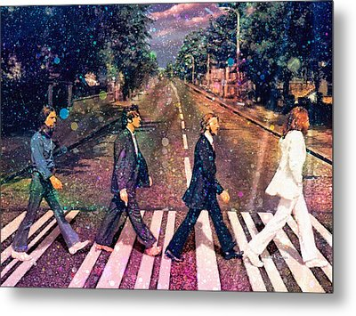 Just Crossing The Street Metal Print by Angela A Stanton