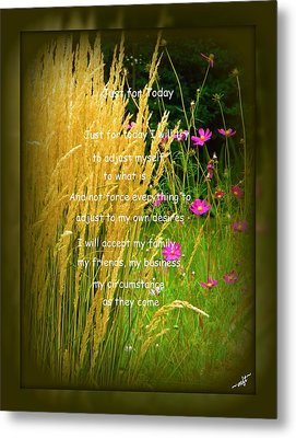 Just For Today Metal Print