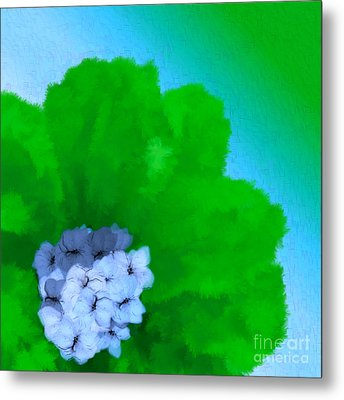Just Give Me A Reason Blue Green Blue Metal Print by Holley Jacobs