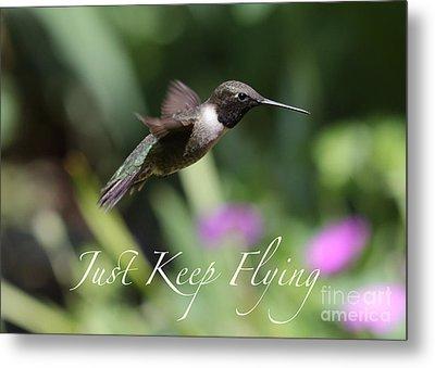 Just Keep Flying Metal Print by Carol Groenen