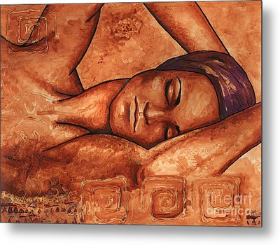 Just Lay Back And Relax And . . .  Metal Print by Alga Washington