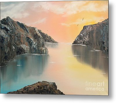 Metal Print featuring the painting Just Listen by Christie Minalga