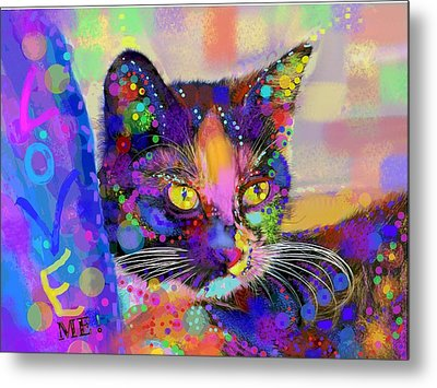 Just Love Me Metal Print by Mary Armstrong