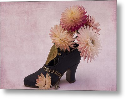 Metal Print featuring the photograph Just One Shoe by Sandra Foster