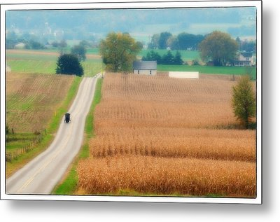 Just Over The Hill Metal Print