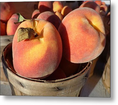 Just Peachy Metal Print