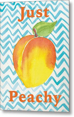 Just Peachy Painting Metal Print by Christy Beckwith